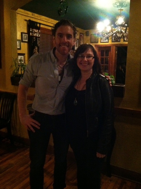 Jay with Colm Kirwan at McNamara's Irish Pub.