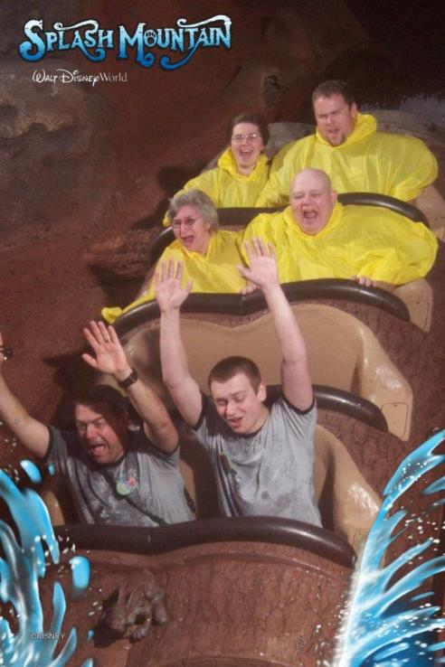 Crazy fun on Splash Mountain!