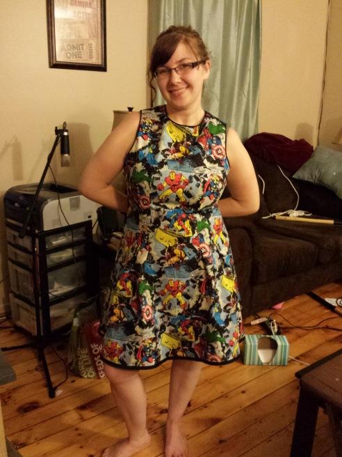 Marvel Comics Dress made by Janice Angell